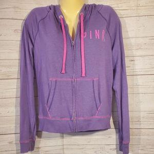Victoria Secrets PINK Purple Full Zip Sweater